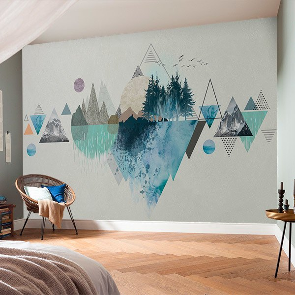 Wall Murals: Collage Mountain and Nature