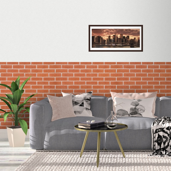 Wall Murals: Red brick texture 0