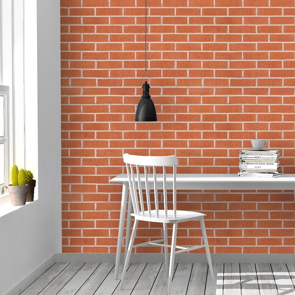Wall Murals: Red brick texture