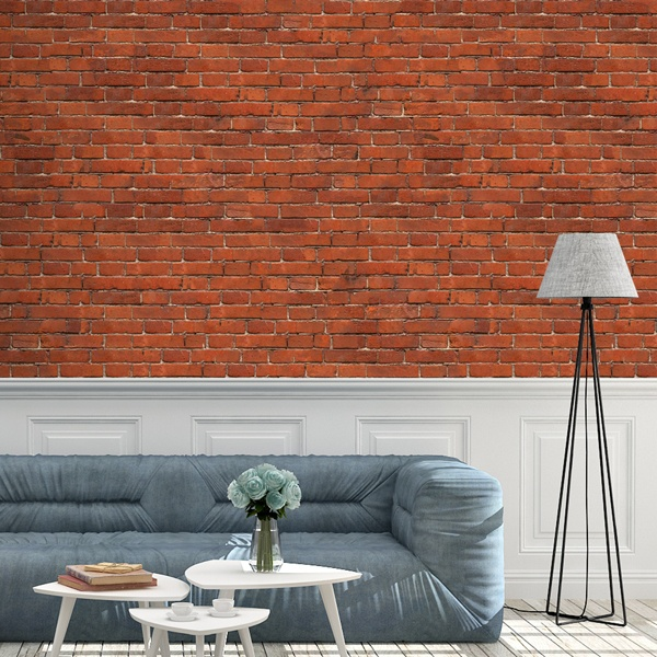 Wall Murals: Rustic red brick texture 0