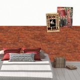 Wall Murals: Rustic red brick texture 2
