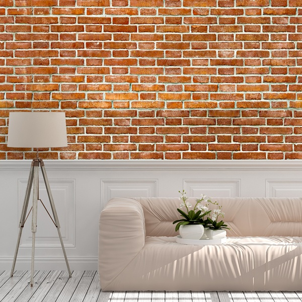 Wall Murals: Retro red brick texture