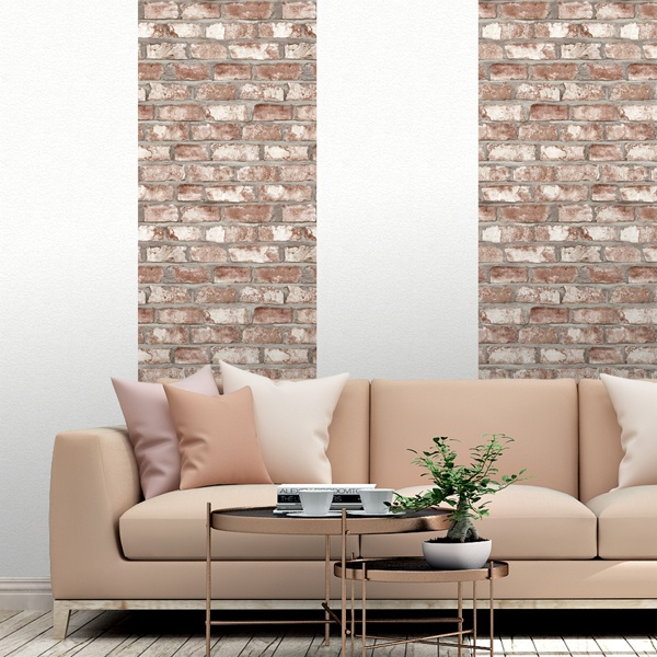 Wall Murals: Worn brick texture