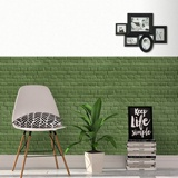 Wall Murals: Green brick texture 2