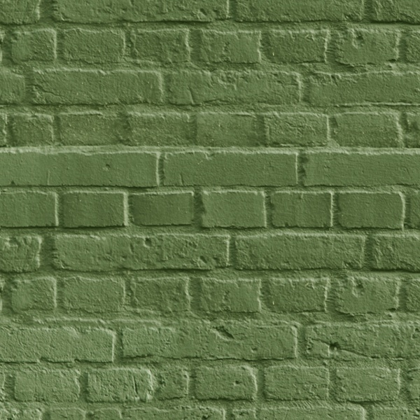 Wall Murals: Green brick texture