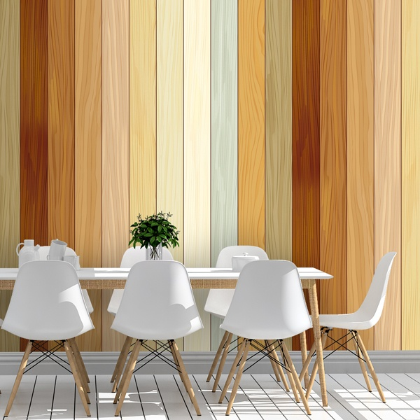 Wall Murals: Beach wood texture 0