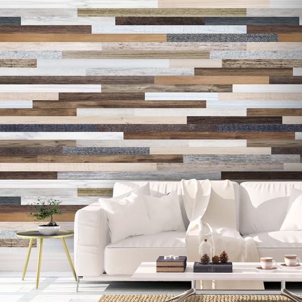 Wall Murals: Retro wood texture
