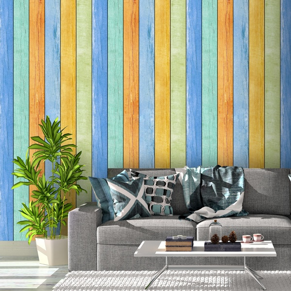 Wall Murals: Vintage wood texture