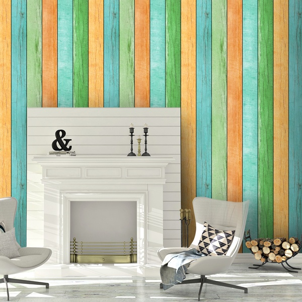 Wall Murals: Wood texture India
