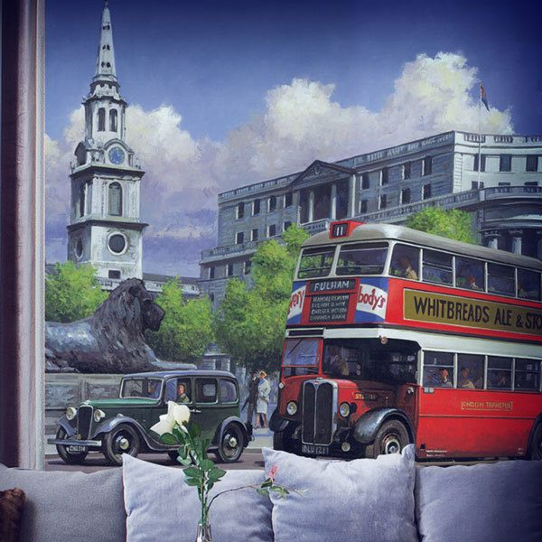 Wall Murals: London bus