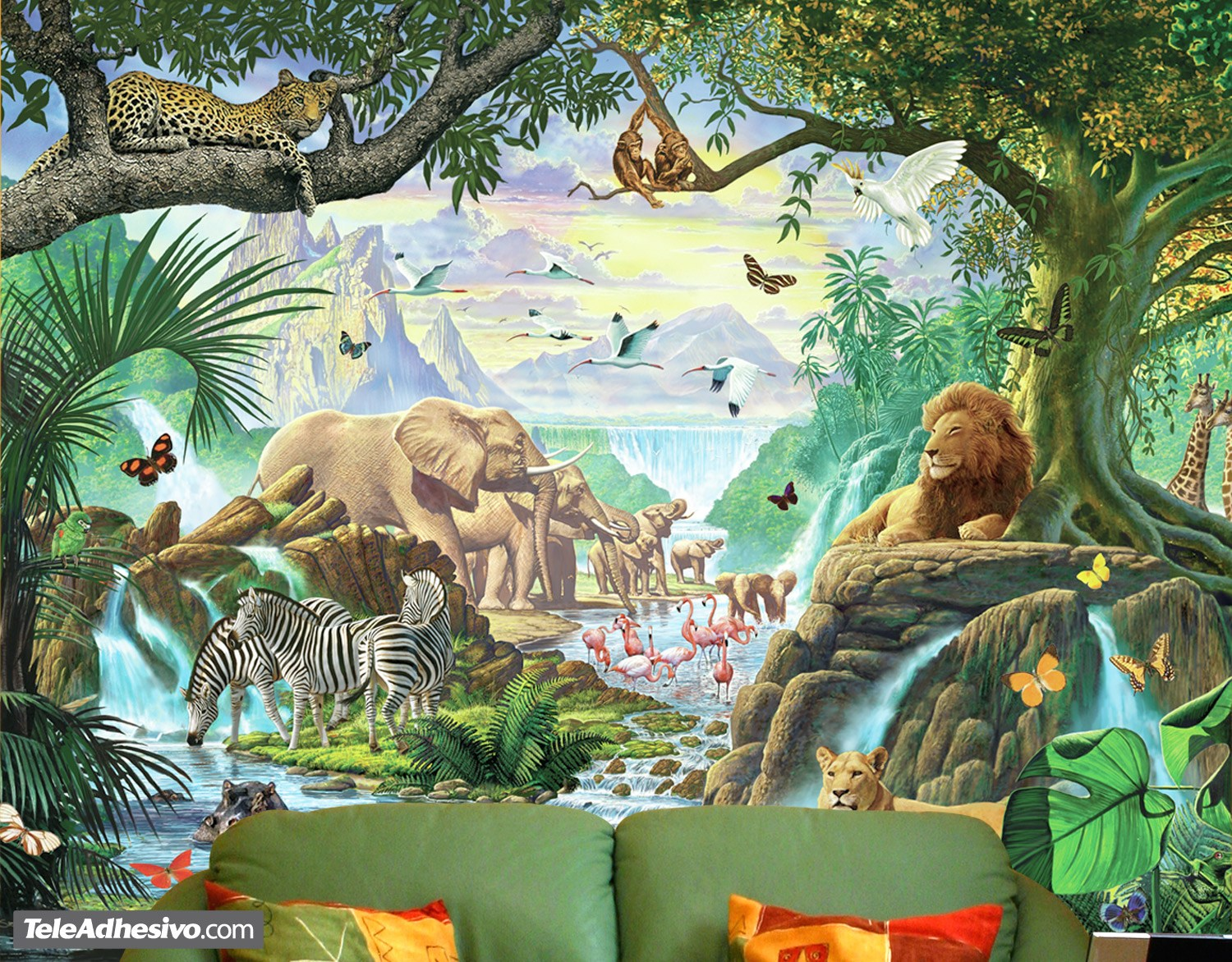 Image gallery jungle wallpaper murals for Home wallpaper jungle