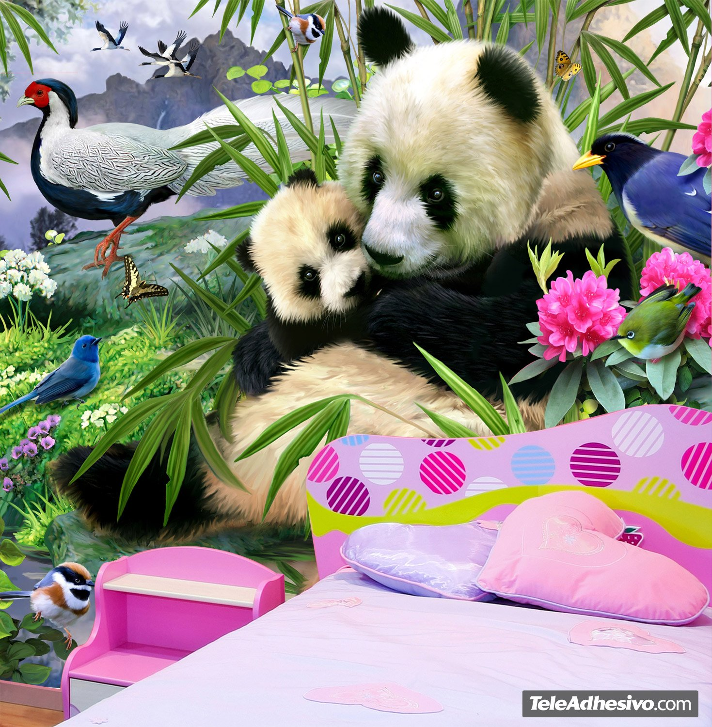 Wall murals panda bear wall murals panda bear amipublicfo Image collections
