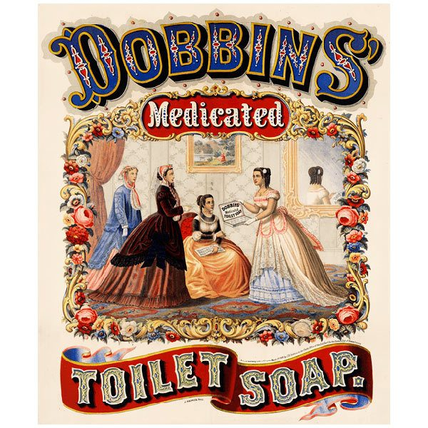 Wall Murals: Dobbins medicated toilet soap