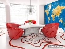 Wall Murals: World Map arid tone 2