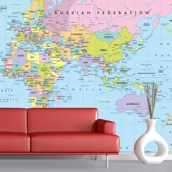 World map wall murals wall murals world map 1 gumiabroncs Gallery