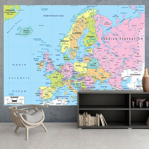 Wall Murals: Political map of Europe