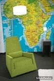 Wall Murals: Africa map of the land relief 2
