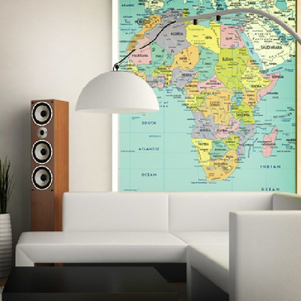 Wall Murals: Political map of Africa