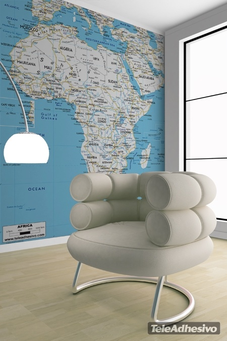 Wall Murals: Road map of Africa