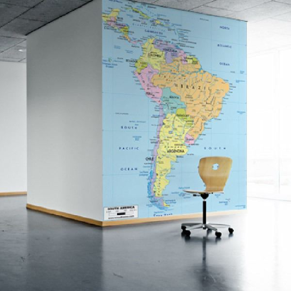 Wall Murals: South America Political 1