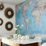 Wall Murals: World Polical Map 2