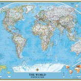 Wall Murals: World Polical Map 3