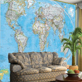 Wall Murals: World Polical Map 4