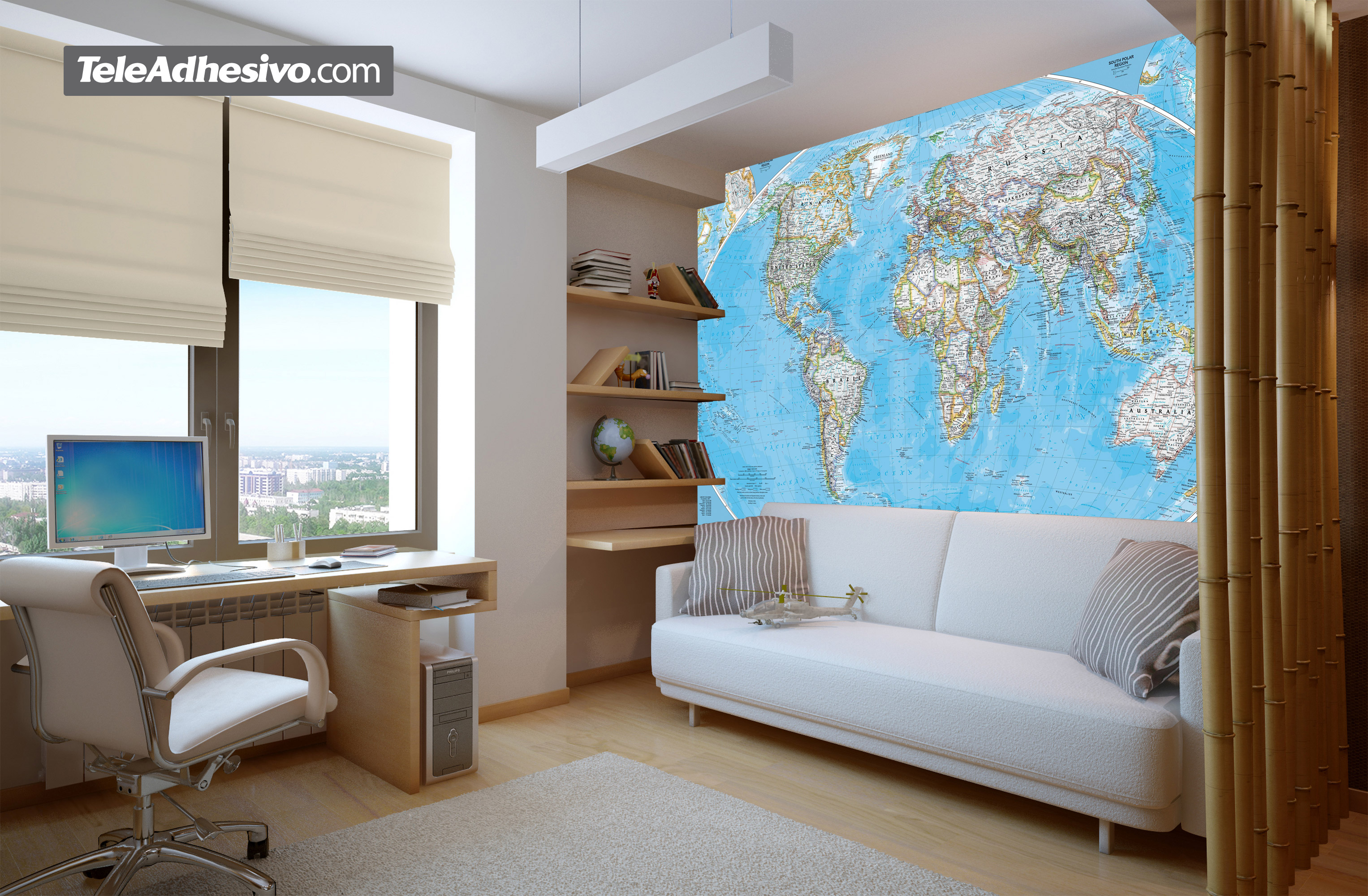 Wall Murals: World Polical Map