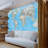 Wall Murals: World Polical Map 5