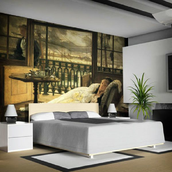 Wall Murals: A step of storm, Tissot