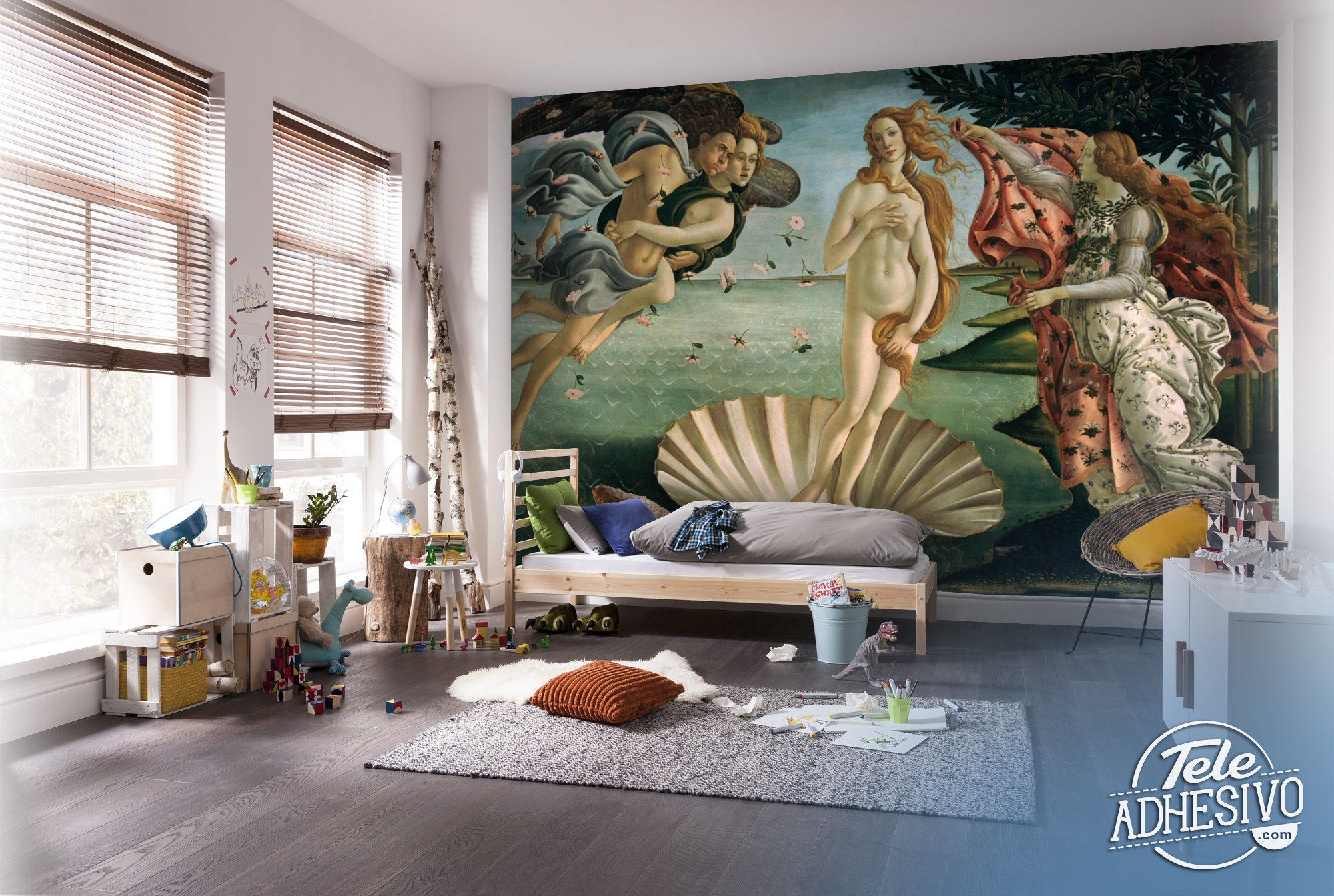 Wall Murals: Birth of Venus, Botticelli