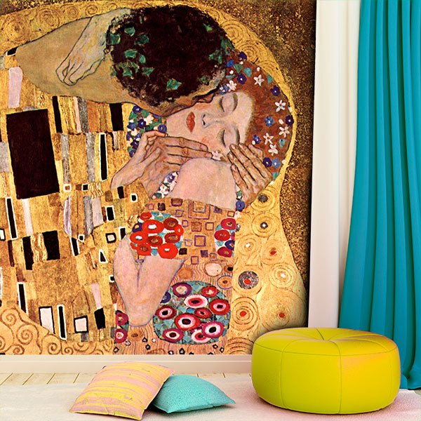 Wall Murals: The kiss, Klimt