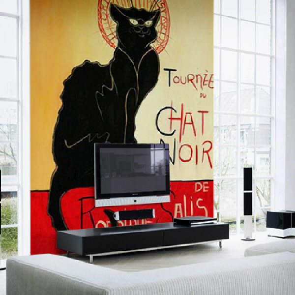 Wall Murals: Black cat, Lautrec
