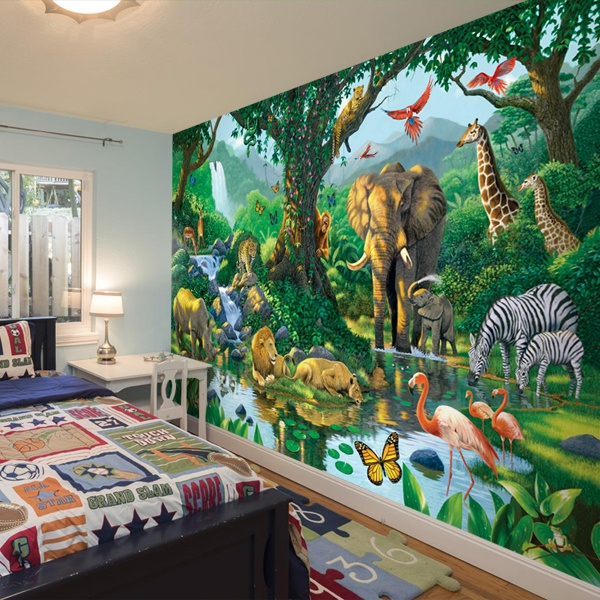 Wall Murals: Animals in harmony 0