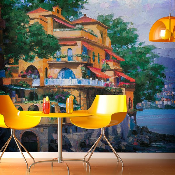 Wall Murals: Village of Portofino