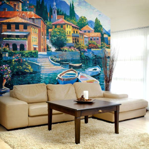 Wall Murals: Lake Como Landing (Howard Behrens)