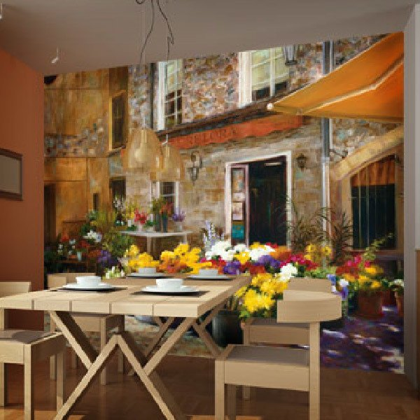 Wall Murals: The flower shop, Jan McLaughlin