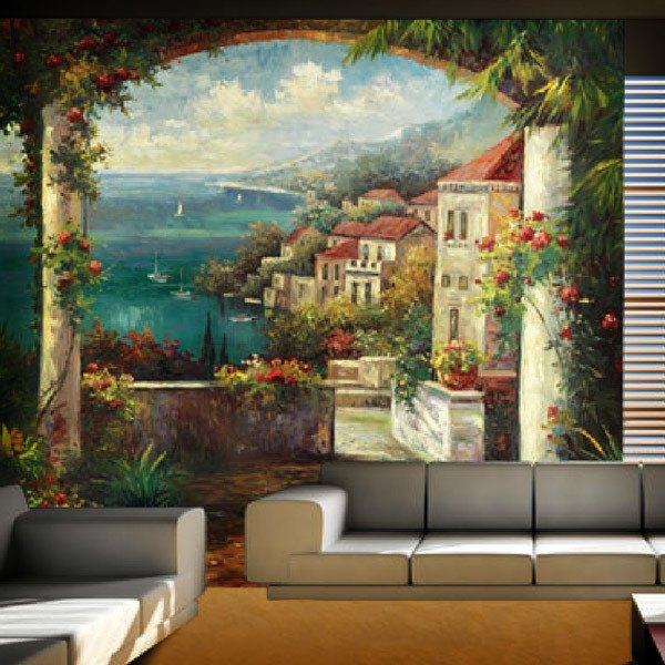 Wall Murals: View of Veranda, Peter Bell 0