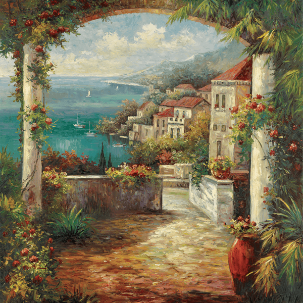 Wall Murals: View of Veranda, Peter Bell
