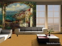 Wall Murals: View of Veranda, Peter Bell 2