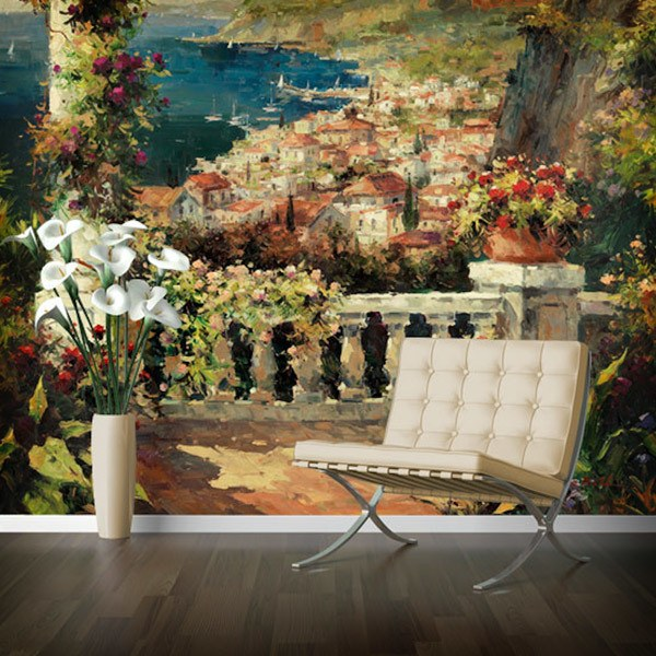 Wall Murals: View from the terrace (Peter Bell)