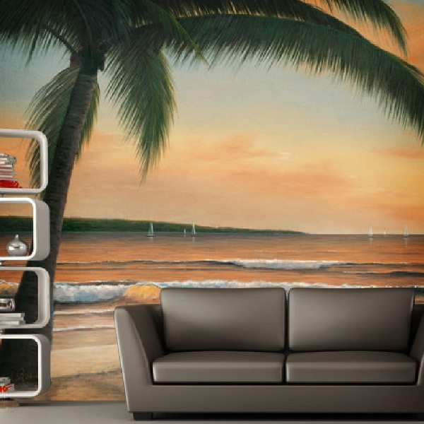 Wall Murals: Golden sunset (Diane Romanello)