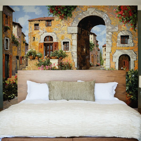 Wall Murals: The entrance to the Villa, Guido Borelli