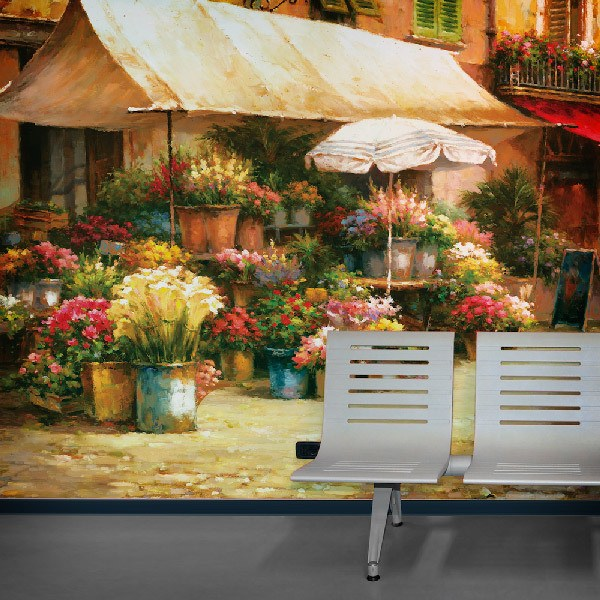 Wall Murals: The Flower Market, Han Chang