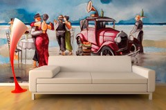 Wall Murals: Dancing on the beach 2
