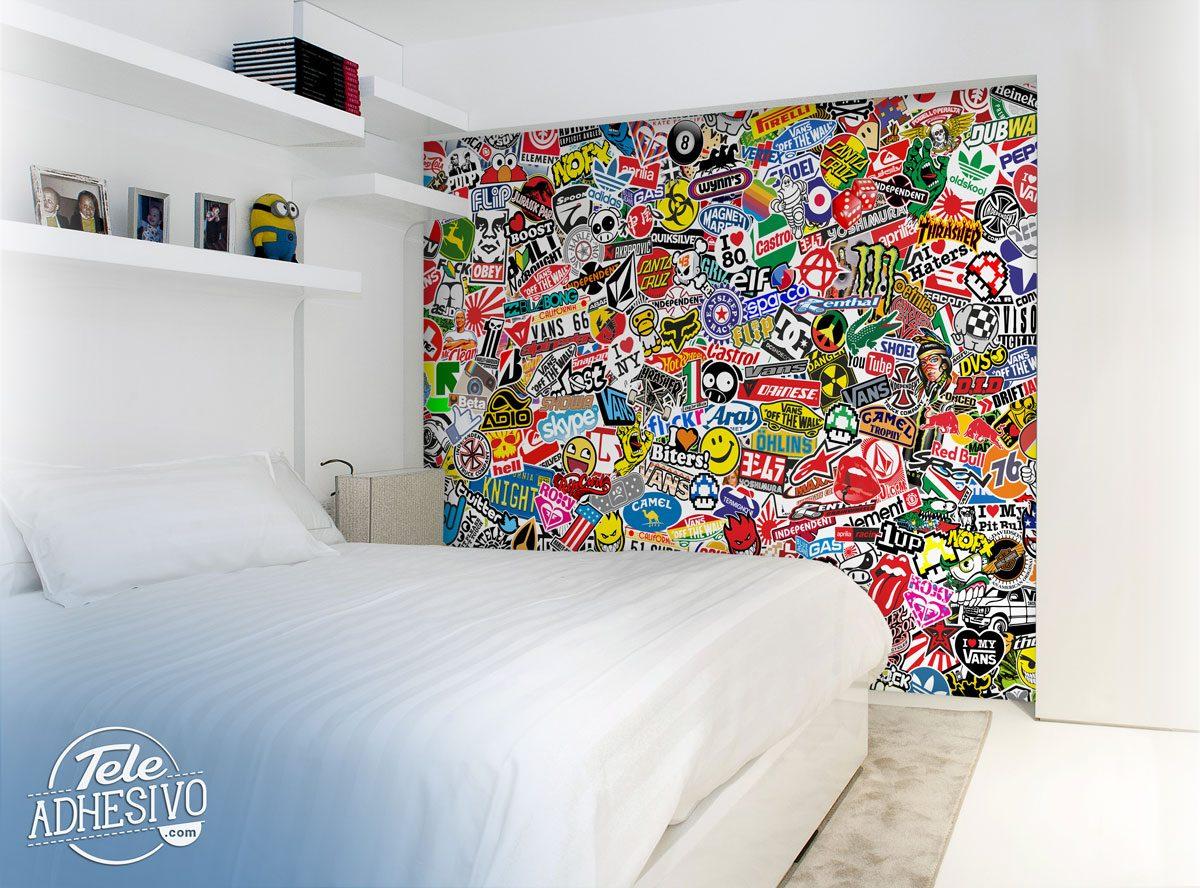 Wall Murals StickerBomb Mural