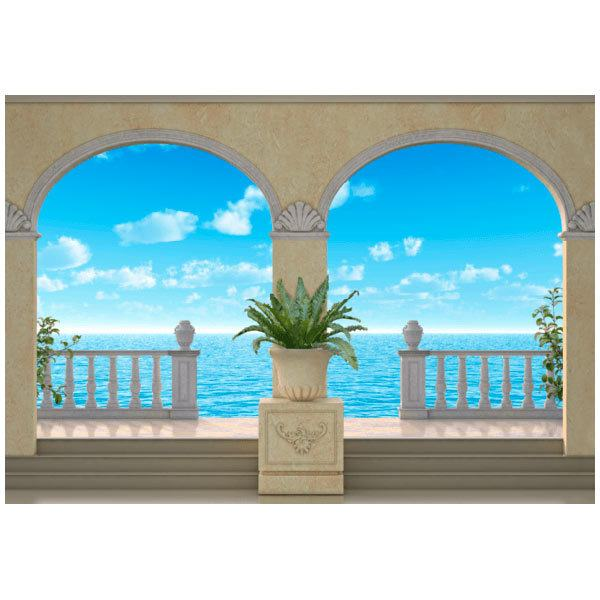 Wall Murals: Maritime background Porches