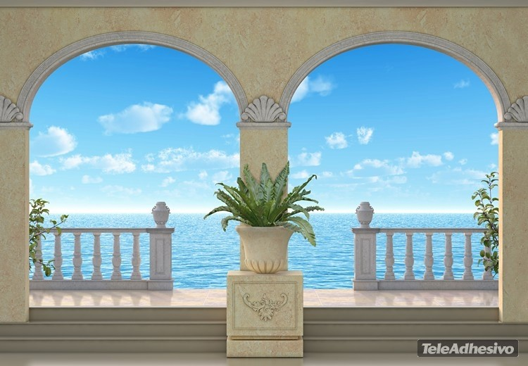 Wall Murals: Porches with sea bottom