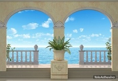 Wall Murals: Porches with sea bottom 2