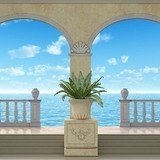 Wall Murals: Porches with sea bottom 3